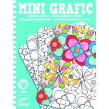 DJECO mini grafika - Virágos színező
