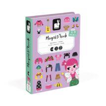 Janod mágneses könyv lányos öltöztető
