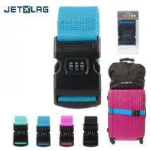 JET LAG Bőröndpánt 140 cm Fekete