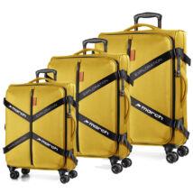Exploration vászonbőrönd hevederrel aranysárga