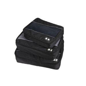 3 részes bőröndrendszerező fekete