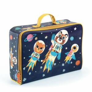 Impregnált vászon gyerek bőrönd űr
