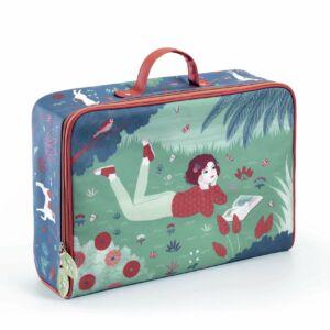 Impregnált vászon gyerek bőrönd álmodozó lány
