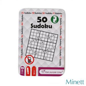 PC 50 Sudoku foglalkoztató fémdobozban