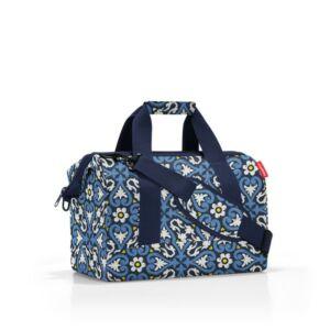 Allrounder M közepes méretű utazótáska - kék virágos