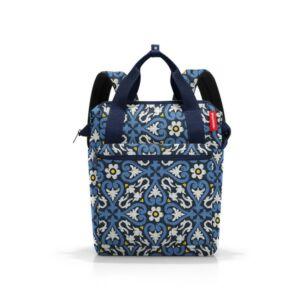 Reisenthel Allrounder R hátizsák, kék virágos