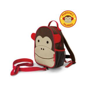Skip Hop gyerekhátizsák pórázzal majom