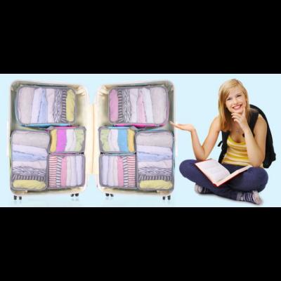 Travelsky bőrönd rendszerező Rózsaszín