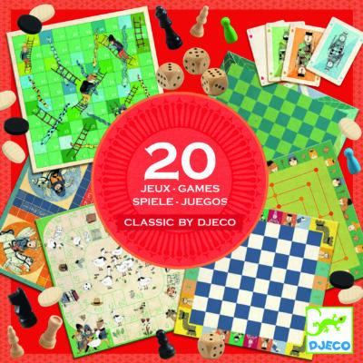 Djeco társasjáték gyűjteény -  20 játék