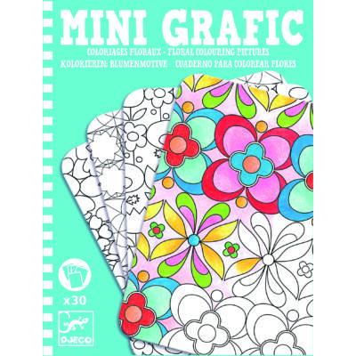 Djeco Mini Grafic virágos színező