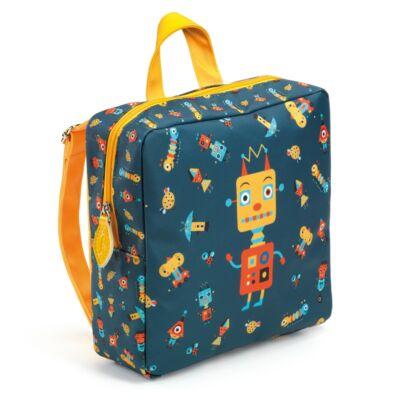 Djeco Óvodás táska Robot mintával