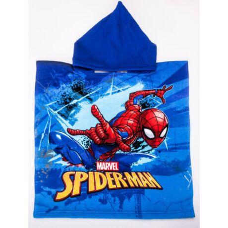 Pókember gyerek poncsó - gyorsan száradó kapucnis törölköző - kék