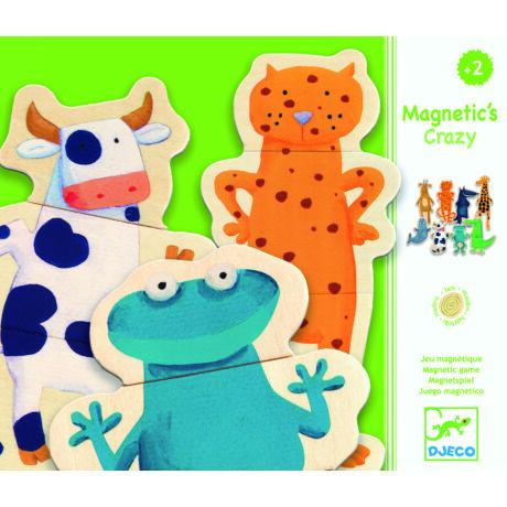 Djeco mágneses képkirakó vicces állatok
