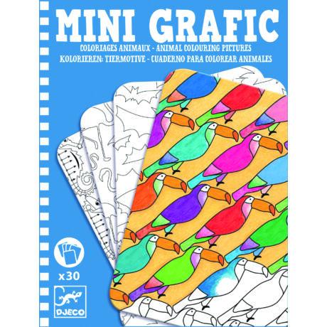 Djeco mini grafic állatos színező
