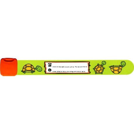 Infoband teknős mintával