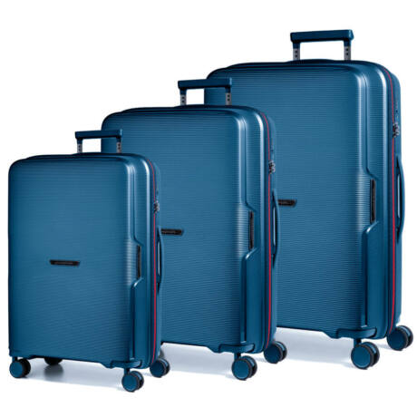 Bel Air bőröndszett kék