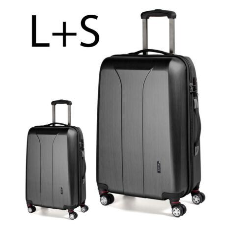 2 darabos bőrönd szett fekete