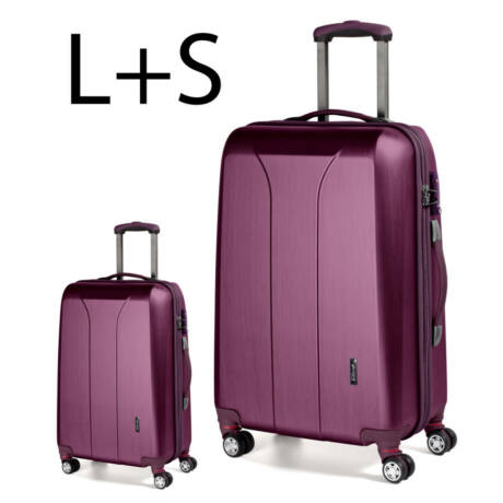 2 darabos bőrönd szett burgundy