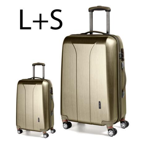 2 darabos bőrönd szett arany