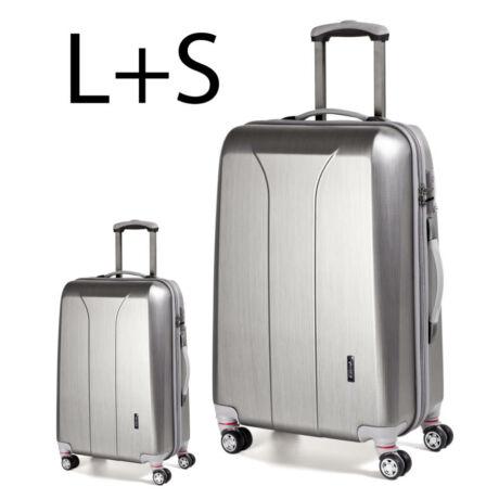 2 darabos bőrönd szett ezüts