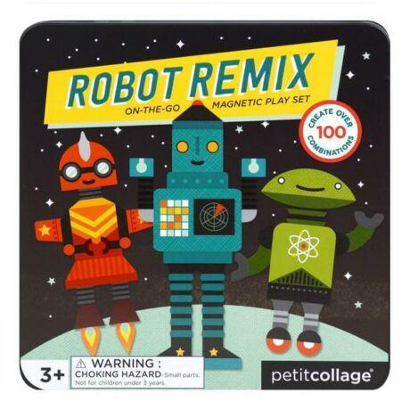 Petit Collage mágneses képkirakó robotok