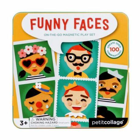 Petit Collage mágneses képkirakó vicces arcok