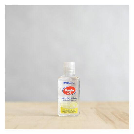 BradoLife kézfertőtlenítő gél 50 ml citrom illattal