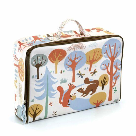 Impregnált vászon gyerek bőrönd Mókus