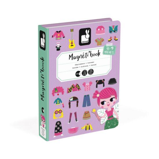 Janod mágneses könyv lányos öltözetető