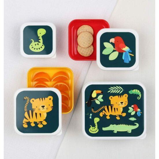 Uzsonnás doboz, 4 darabos, tigris