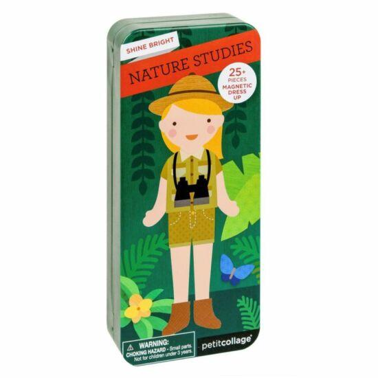 Petit Collage mágneses öltöztető játék lányoknak