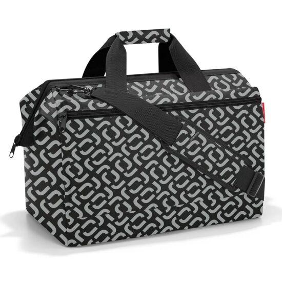Reisenthel  Allrounder L Pocket nagyméretű utazótáska - fekete mintás