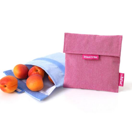 Snack'n'go Öko ételtasak - pink