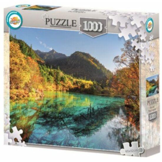 1000 darabos puzzle - Hegyi tó